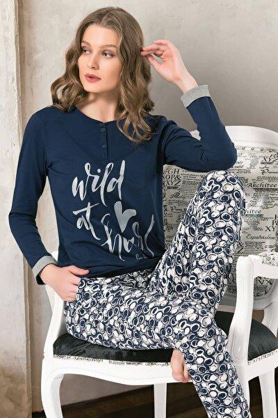 Uzun Kollu Renkli Pijama Takımı