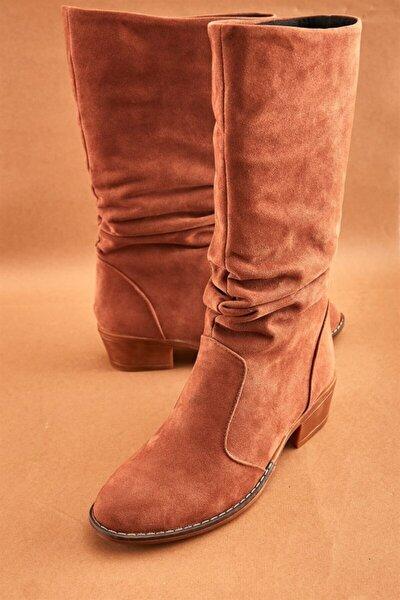 Taba Süet Kadın Çizme K0709010072