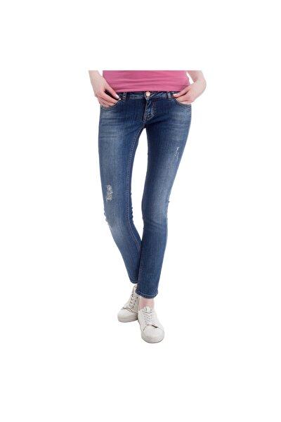 Gina Skinny Kadın Jean Pantolon Mavi