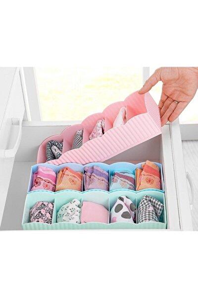 3 Adet 5 Gözlü Çekmece Içi Çorap Düzenleyici