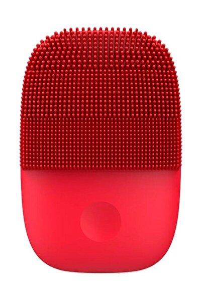 Kırmızı Sonic Yüz Temizleme Ve Masaj Cihazı 5 Kademeli Titreşim Modu