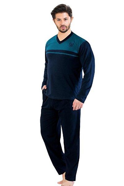 Gls 2100 Uzun Kol V Yaka Erkek Pijama Takımı