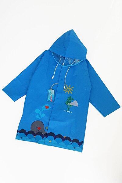 Yunus Figürlü Kapüşonlu Çocuk Yağmurluk