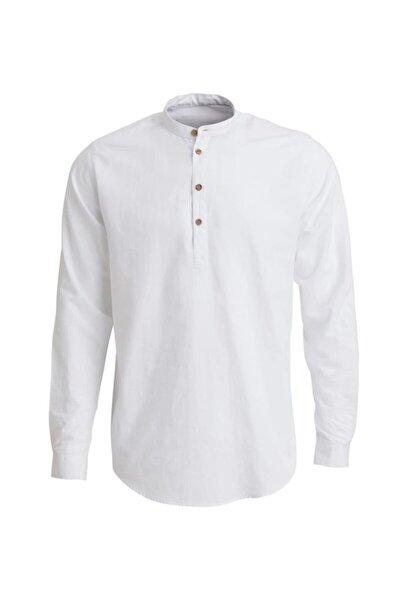 Erkek Henley Shırt Whıte Gömlek 19.01.30.002-c03