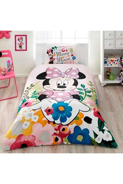 Minnie Mouse Glitter Lisanslı Tek Kişilik Nevresim Takımı