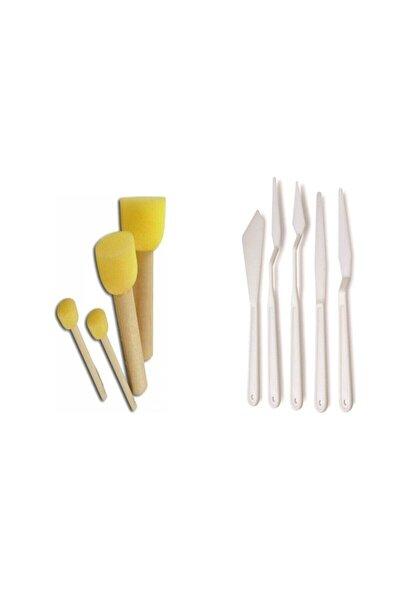 Ponpon Fırça Ve Spatula 2'li Set