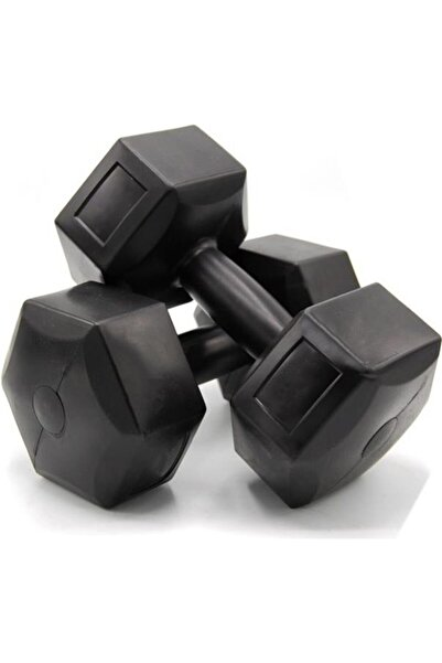 Spor 5 Kg Dambıl Seti 5 Kg X 2 Adet Toplam 10 Kg Ağırlık Seti Siyah