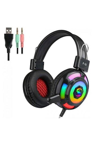 Kubite F15 Siyah 3,5mm Rgb Oyuncu Mikrofonlu Kulaklık