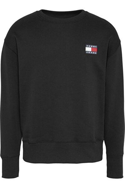 Erkek Tj Tommy Badge Sweatshirt