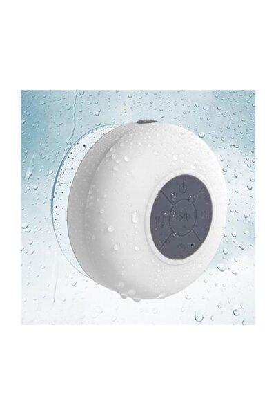 Su Geçirmez Mini Bluetooth Duş Hoparlörü (Beyaz)