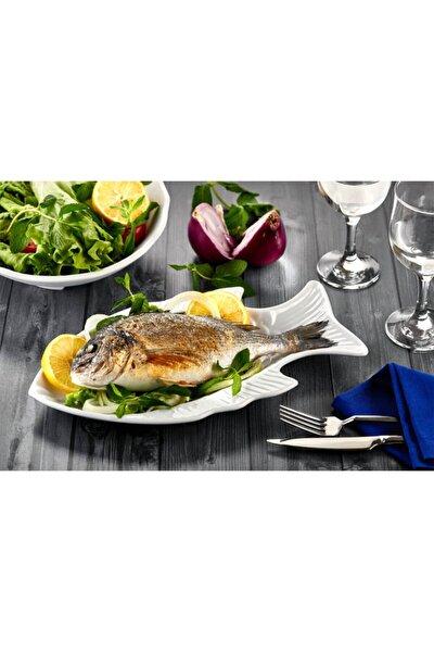 Balık Desenli Servis Tabağı Thermo Melamin
