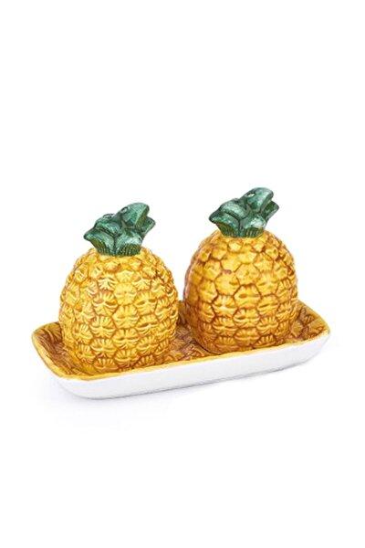 Ananas Serisi Lüx Tabaklı Tuzluk&biberlik Takımı A-will-008182/36