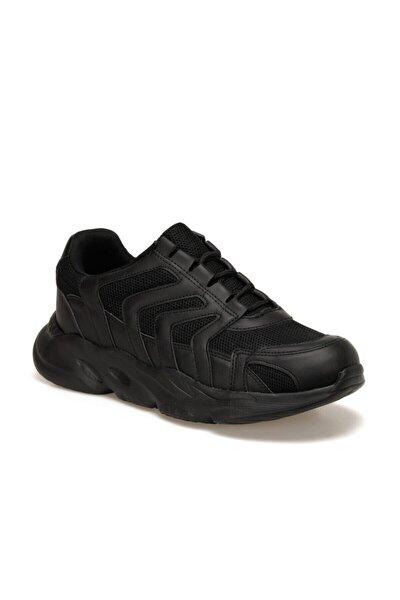 EC-1067 Siyah Erkek Kalın Taban Sneaker Spor Ayakkabı 100569502