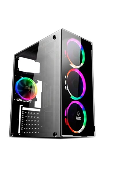 Gt-03 V2 4x120mm Rainbow Fanlı Gaming Oyuncu Bilgisayar Kasası Psu Yok