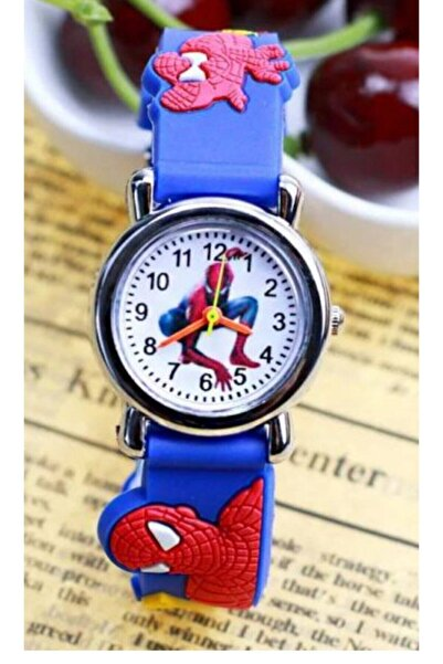 Erkek Çocuk Mavi Örümcek Adam  Saat Kol Saati
