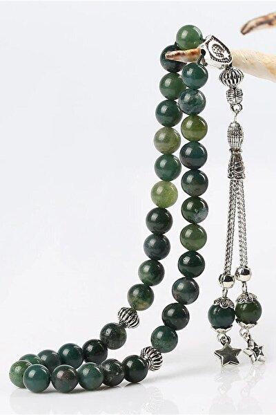 Yeşil Akik Doğaltaş Tesbih TKPSTB10246