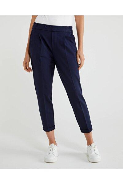 Kadın Lacivert Beli Lastikli Pantolon