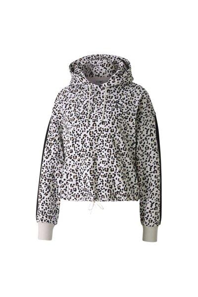Kadın Spor Sweatshirt - Classics Cropped Hoody AOP Vaporous Gray - 59874999
