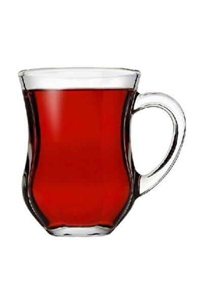 55373 Dem Kulplu Kahvaltı Keyif Çay Bardağı 140 Cc 6'lı