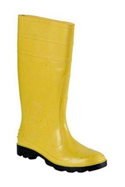 Pvc Uzun Sarı Iş Çizmesi