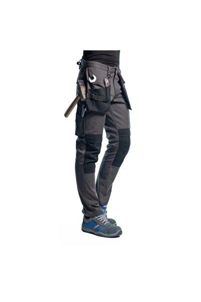 Şensel, Çok Cepli Iş Pantolonu, Gri-siyah (54E2850)