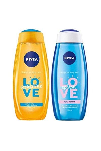 Love Sunshine Banyo Jeli 500 ml + Love Splash Deniz Kokulu Duş Jeli 500 ml