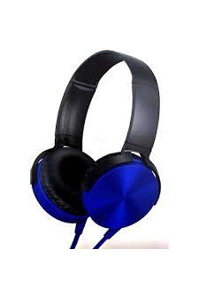 Mavi Kafa Üstü Telefon Oyun Kulaklığı