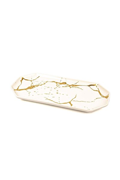 Beyaz Porselen Tabak 14x24cm