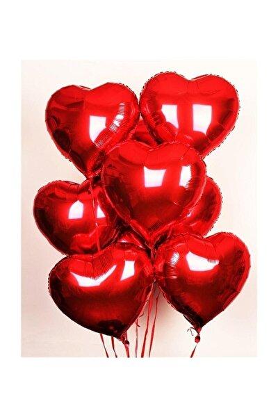 Folyo Kalpli Uçan Kalp Balon 5 Adet Kırmızı Romantik Evlilik Teklifi