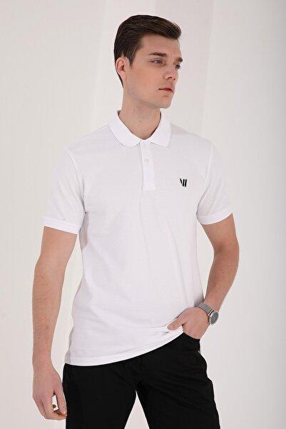 Klasik Polo Yaka Beyaz Erkek Tshirt T08ER-87768