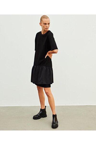 Fırfır Şeritli Elbise