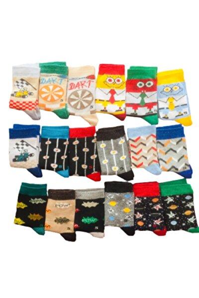 5 Yaş Erkek Çocuk Çorapları 12 Adet Karışık