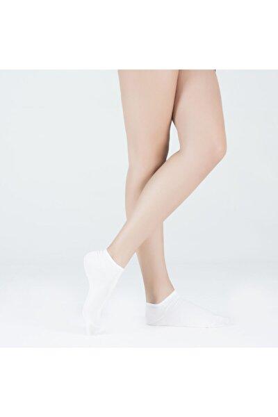 Run 3 Lü Kadın Basic Patik Çorap - Siyah/beyaz/gri