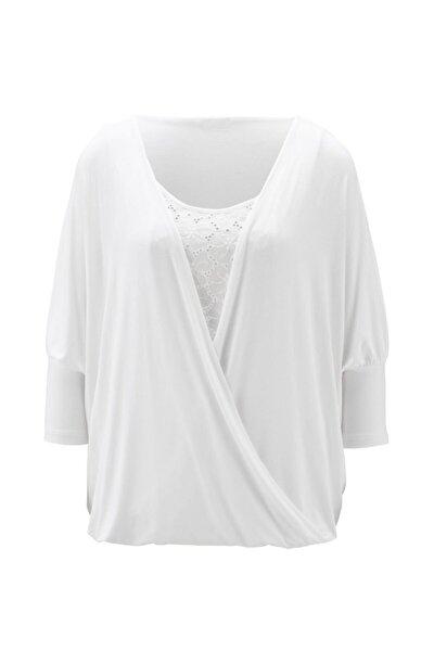 Kadın Kırık Beyaz Bluz - Bga71287108