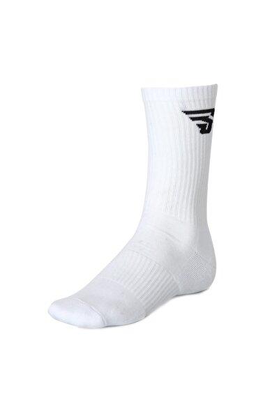 Unisex Beyaz Voleybol Spor Çorap Tkc100101-byz