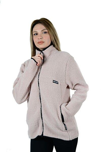 Parkrow Sherpa Polar Sweatshirt Ceket Hırka Cepli Fermuarlı