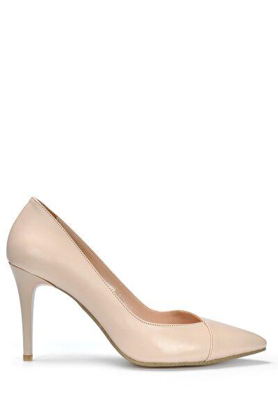 Kadın Ten Klasik Topuklu Ayakkabı Vzn19-109k