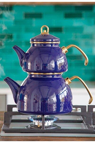 Emaye Çaydanlık Qedi (Lacivert)