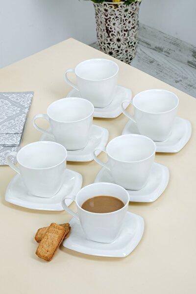 Lüx Porselen Beyaz Kahve, Çay Fincanı Takımı