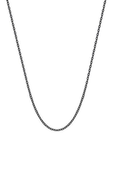 Siyah 50 Cm. 1.5 Mm. Bayan Çelik Kolye Zinciri Ap81sy
