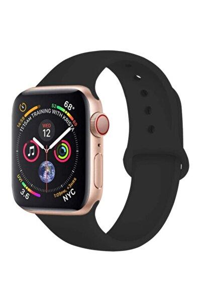 Apple Watch 38 - 40 Mm Spor Kordon Silikon Kayış Siyah
