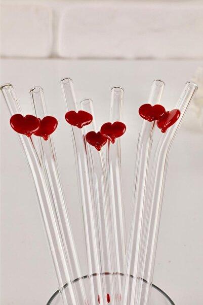 Kalp Figürlü Sevgiler Günü Özel 2'li Cam Pipet