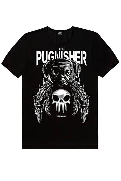 Erkek Siyah Sevimli Ve Tehlikeli Kısa Kollu T-shirt