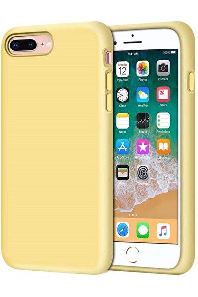 Iphone 7 Plus  8 Plus Uyumlu Içi Kadife Lansman Silikon Kılıf
