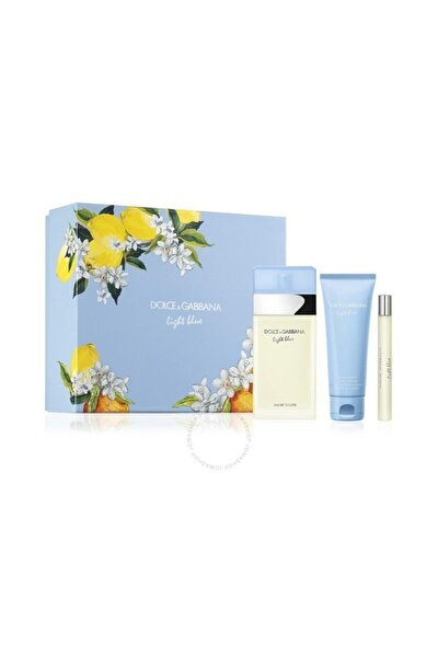 Light Blue Edt 100 Ml + Body Cream 75 Ml + Travel Spray 10 Ml