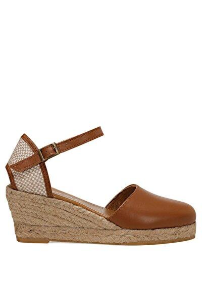 FRIDA Taba Kadın Dolgu Topuk Sandalet 100526034