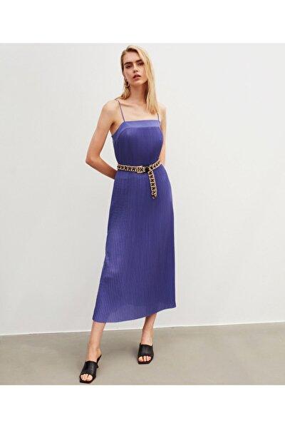 Ince Askılı Pilise Elbise