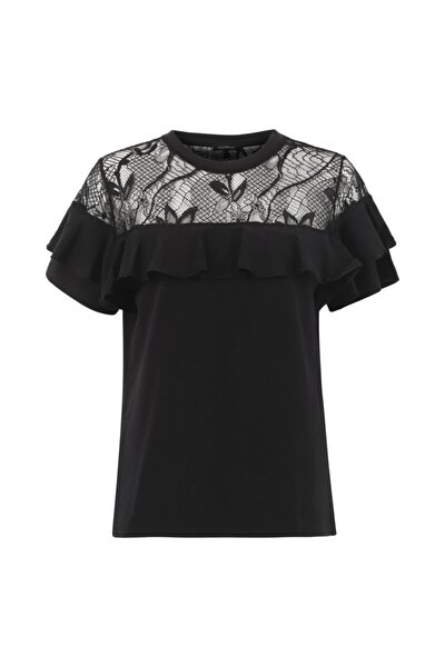 Dantel Şeritli Tişört
