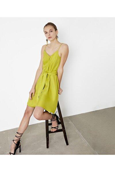 Düğme Aksesuarlı Elbise