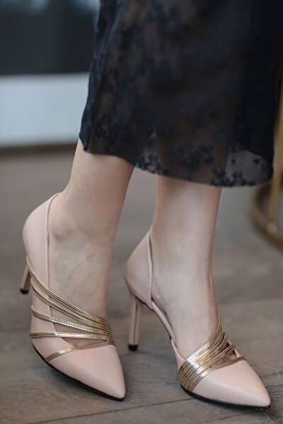 Lily Altın Bantlı Ten Stiletto